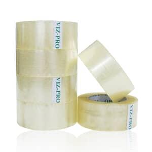 VIZ-PRO Packing Tape, 2 Inches x 50 Yards, 6 Rolls, Transparent
