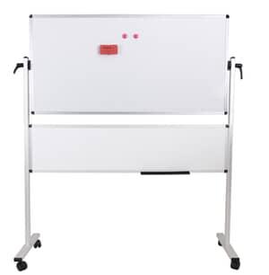 VIZ-PRO Venus Double-Sided Magnetic Mobile Whiteboard, Aluminium Frame & Stand