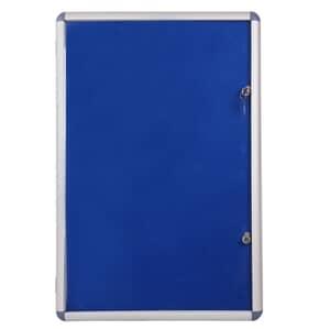 VIZ-PRO Tamperproof Lockable Noticeboard Class 1 Aluminium Framed
