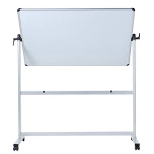 VIZ-PRO Double-sided Non-Magnetic Mobile Whiteboard, Aluminium Frame and Stand