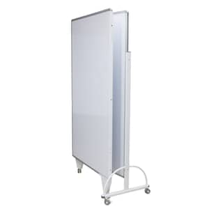 VIZ-PRO Room Divider Board/Office Partition, Double-sided Magnetic Mobile Whiteboard
