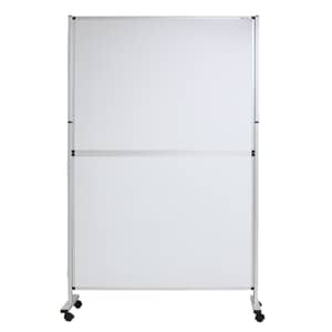 VIZ-PRO Mobile Room Divider/Office Partition, Double-Sided Magnetic Whiteboard