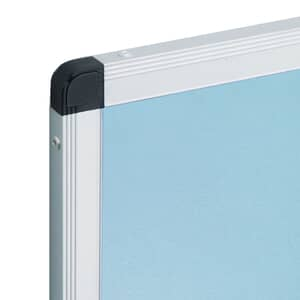 VIZ-PRO Notice Board Felt Light Blue, Silver Aluminium Frame