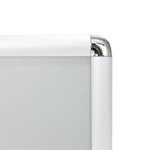 VIZ-PRO A0 Silver Snap Frames / Poster Frames, Round Corner
