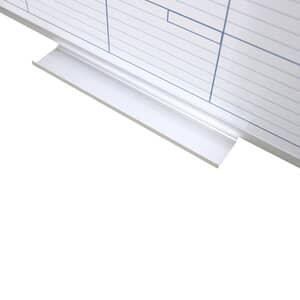 VIZ-PRO Magnetic Dry Erase Monthly Planner, Silver Aluminium Frame