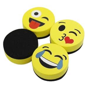 "VIZ-PRO Magnetic Smiley Face Circular Whiteboard Eraser / 24 Pack of 2"" Dry Erase Erasers"