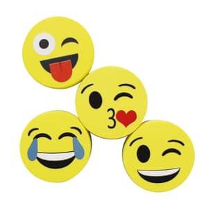 "VIZ-PRO Magnetic Smiley Face Circular Whiteboard Eraser / 8 Pack of 2"" Dry Erase Erasers"
