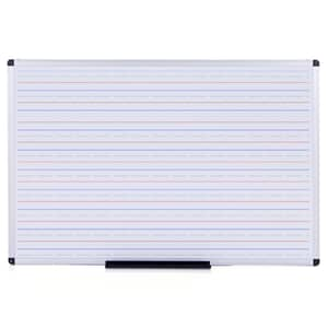 VIZ-PRO Double Sided Magnetic Dry Erase Board/Whiteboard, Penmanship Lines, 60 x 36 Inches