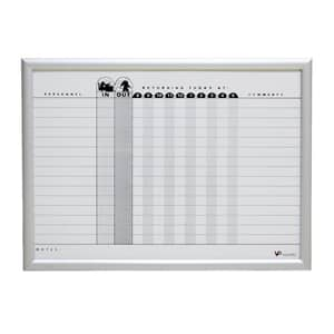VIZ-PRO A2 Magnetic In Out Board Snap Frame/Planner Board Poster Frame, Silver Aluminium Frame
